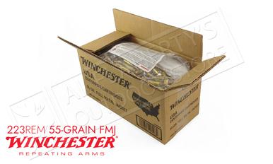 Winchester 223 Rem Bulk, 55 Grain FMJ Case of 1000 #USA223LK?>