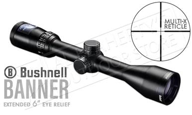 "Bushnell Banner Scope 3-9x40mm, Extended 6"" Eye Relief with Multi-X Reticle #613947?>"