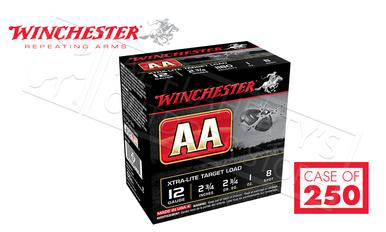 "(Store Pick Up Only) Winchester AA Xtra-Lite Target Load 12 Gauge #8, 2-3/4"" Case of 250 Shells #AAL128CASE?>"