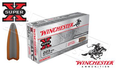 Winchester 223 Rem Super-X, JSP 55 Grain Box of 20 #X223R?>
