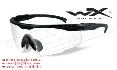 Wiley X PT-1 Shooting Glasses with Clear Lens and Matte Black Frame #PT-1C?>