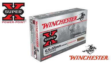 Winchester 6.5x55 Swedish Super X, Soft Point 140 Grain Box of 20 #X6555?>