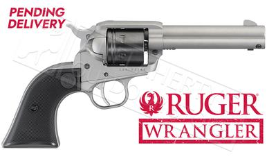 Ruger Wrangler Single-Action Revolver in Silver Cerakote 22LR #2003?>