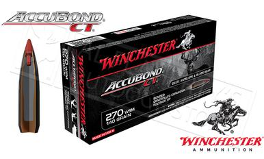 Winchester 270 WSM Accubond CT, Polymer Tipped 140 Grain Box of 20 #S270WSMCT?>