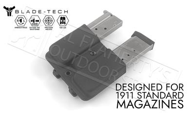 Blade-Tech Signature Double Mag Pouch for 1911 Series Magazines with TekLok Mount #AMMX00241911SSTLBLK-1?>