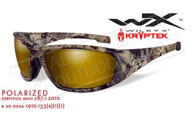 Wiley X Boss POL Venice Polarized Shooting Glasses with Gold Lens and Kryptek Highlander Frame #CCBOS12?>