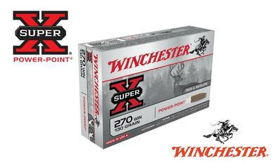Winchester 270 WIN Super X, Power Point 130 Grain Box of 20 #X2705?>