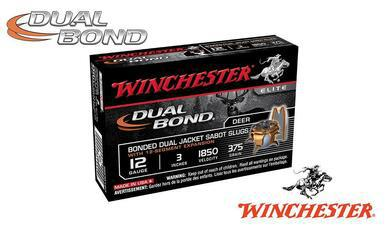 "Winchester Supreme Elite Dual Bond Sabot Slugs 12 Gauge 3"", 375 Grain, 1850 fps, Box of 5 #SSDB123?>"