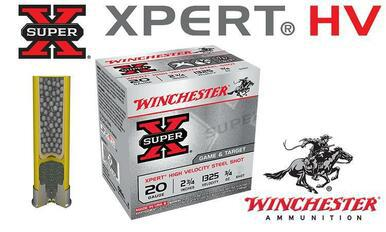 "Winchester Super-X Xpert HV Shells 20 Gauge 2-3/4"" Steel Shot, Boxes of 25 #WE20GT?>"