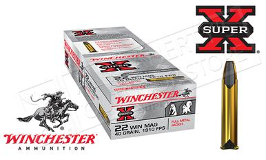 Winchester 22WMR Super X, FMJ 40 Grain Box of 50 #X22M?>