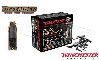 Winchester 9mm +P PDX Defender, JHP 124 Grain Box of 20 #S9MMPDB?>