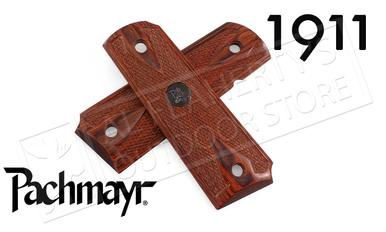 Pachmayr 1911 Custom Laminate Double Diamond Rosewood Grips #00440?>