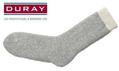 Duray Ultimate Thermal Wool Sock, Natural Grey, Size Large #1155?>