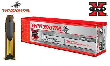 Winchester 22LR Super X, 40 Grain Power Point 1280FPS #X22LRPP1?>