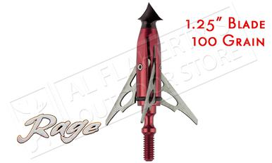 "Rage SlipCam Chisel Tip Mechanical Broadheads, 1.5""+ Cut 100 Grain Pack of 3 #30100?>"