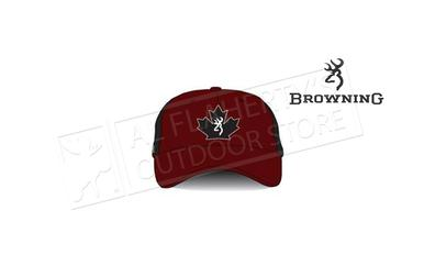 Browning Trucker Cap Maple Leaf, Red & Black #308846711?>