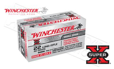 Winchester 22LR Super-X Power-Point Copper Jacket HP 40 Grain Box of 50 #X22LRPP?>