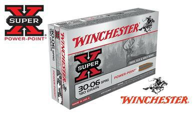 Winchester 30-06 Springfield Super X, Power Point 180 Grain Box of 20 #X30064?>