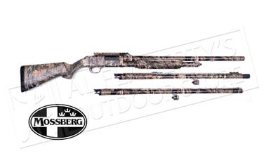 "Mossberg 500 3-Barrel Combo 12 Gauge, 3"" Chamber, 24"" Rifled, 24"" Turkey, 28"" Waterfowl Barrel Mossy Oak Break-Up country #53342?>"