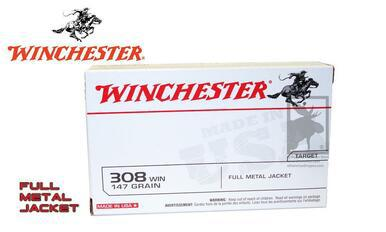 Winchester .308 White Box, FMJ 147 Grain Box of 20 #USA3081?>