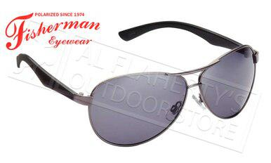 Fisherman Eyewear Siesta Polarized Glasses, Shiny Gunmetal Frame with Gray Lens #50432301?>