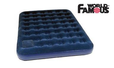 World Famous Double Air Mattress with Pump #7891?>
