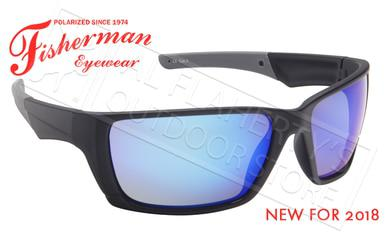 Fisherman Eyewear Hook Polarized Glasses, Matte Black Frame with Blue Mirror Lens #50603031?>