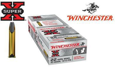 Winchester 22WMR Super-X, 40 Grain JHP Box of 50 #X22MH?>