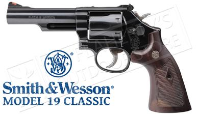 "Smith & Wesson Model 19 Classic Revolver, 357 Magnum, Blued 4.25"" Barrel #12040?>"