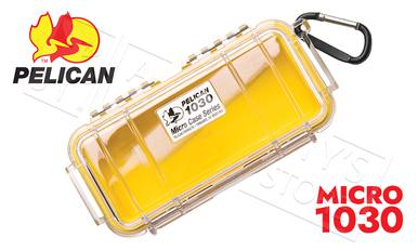Pelican 1030 Micro Case, Clear w/Yellow Liner?>