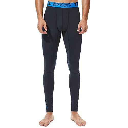 Wkgre Men's Solid Color Trousers Quick-Drying Sports Fitness Pants Fast-Drying Breathable Tights?>