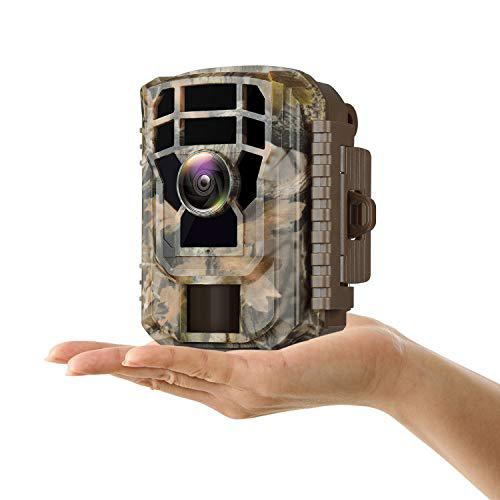 "Campark Small Trail Game Camera-12MP 1080P HD Wildlife Waterproof Scouting Hunting Camera with 120° Wide Angle Lens and Night Vision 2"" LCD IR LEDs?>"