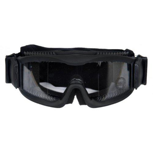 Lancer Tactical Ca-221B Clear Lens Vented Safety Airsoft Goggles, Black?>