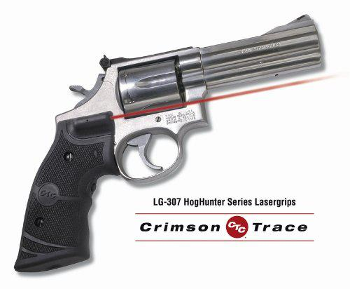 Crimson Trace Laser-Grip for Smith and Wesson K, L-Frame Hoghunter Series Square Butt, Black?>