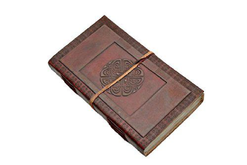 SZCO Supplies Large Celtic Circle Leather Journal with Strap?>