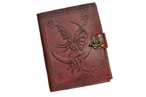 SZCO Supplies Fairy Design Leather Journal with Lock?>