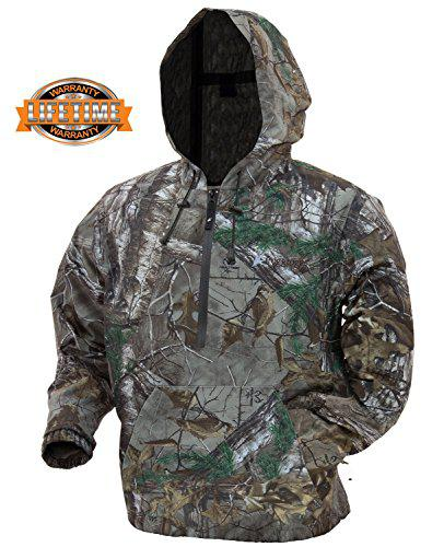 Frogg Toggs Dead Silence Brushed Camo Pullover Water-Resistant Rain Hoodie?>