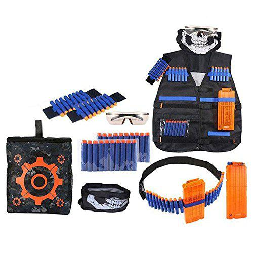 SODIAL 28 pcs Ultimate Tactical-Vest Holster Belt Wristbands Refill Darts Kit for Nerf-Guns N-Strike Elite Series?>