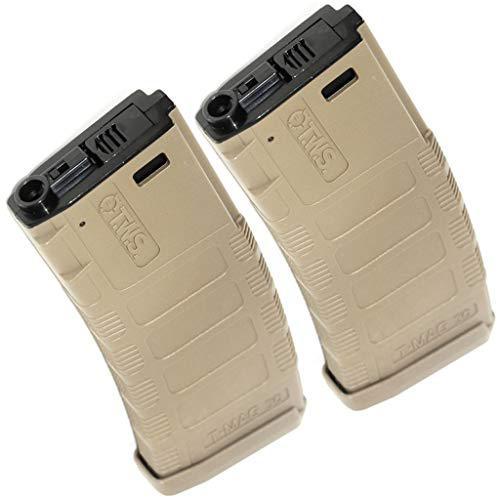 Airsoft Gear Parts Accessories King Arms 2pc 370rd TWS T-MAG Hi-Cap Mag bd5ef91c7bca