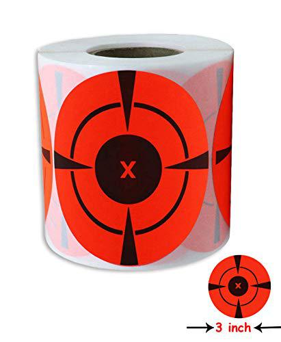 "Target Stickers 3"" inch Rated Self Adhesive Targets for Shooting 