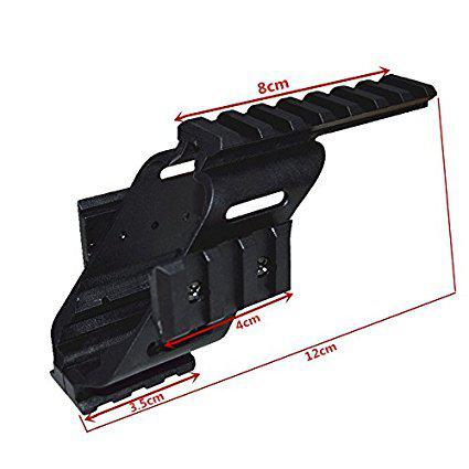 "HWZ 2017 New Arrival Universal Tactical Pistol Scope Sight Polymer Light Weight Mount With 7/8"" Weaver & Picatinny Glock 17 5.56 For s&w/1911/Glocks/Walther p22/HKp30/SD9VE 9mm?>"