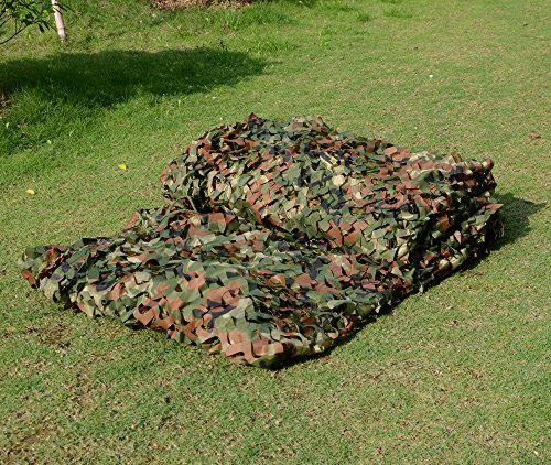 2 X 3M Military Camouflage Net Woodlands Leaves Camo Cover for Camping Hunting?>