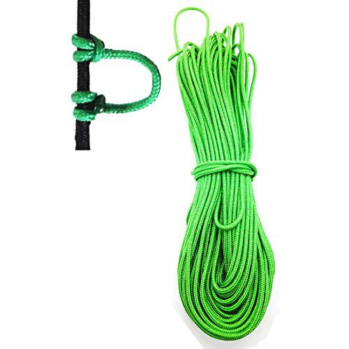"12 Feet Archery D Loop Rope Bow String Release Nock Durable Wire U Nok Ring Nocking Loop Buckle, 2.4mm 0.09""?>"