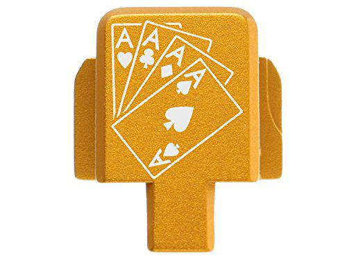 NDZ Performance for Sig P320 Back Plate 9MM .357 .40 .45 Gold Playing Cards 4 Aces?>