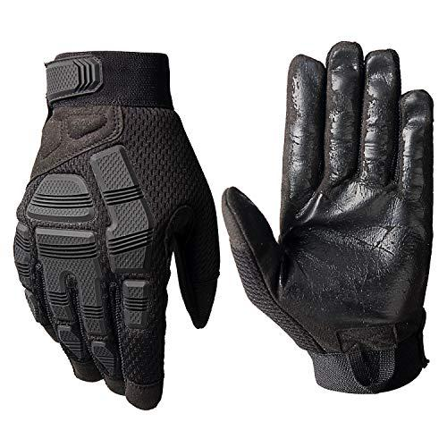 Rubber Knuckle Guard Full Finger Tactical Gloves for Airsoft Hunting Cycling Motorbike Black Small?>