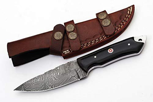 Handmade Damascus Hunting Knife 8.5 Inches G -051H (with Sheath)?>