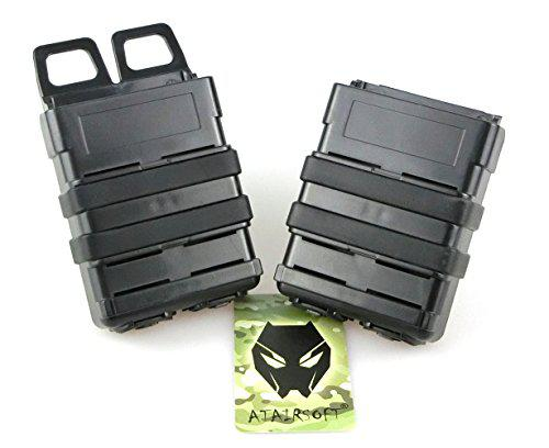 ATAIRSOFT Airsoft Fast 5.56 Mag Magazine Pouch Holder Pouch Set Molle System Black?>