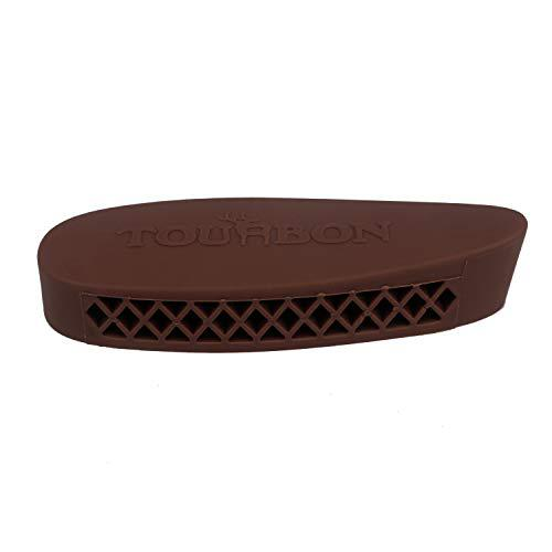 TOURBON Hunting Shooting Grind-to- fit Recoil Pad - Brown?>