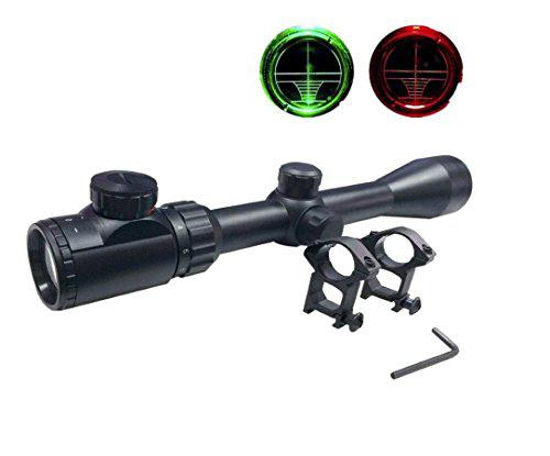 Goetland 3-9x40 EG Gun Rifle Scope Red & Green Telescopic Illuminated Tactical Hunting with Free Mounts?>