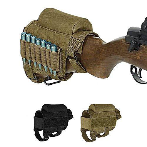 Tactical Buttstock, Rifle Buttstock Cheek Rest with 7 Rifle Ammo Holder for 308 - .300Winmag?>